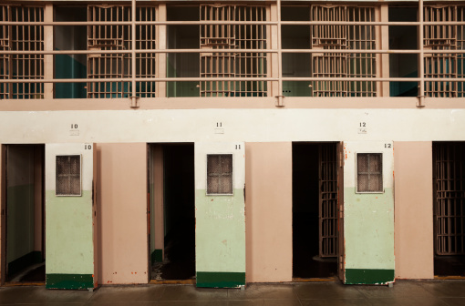 The Hole Solitary Confinement Cells At Alcatraz San Francisco Stock Photo - Download Image Now