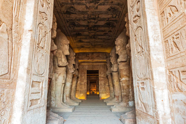 The Holiest of Holies of the Great Temple at the Ramses II Temples at Abu Simbel stock photo