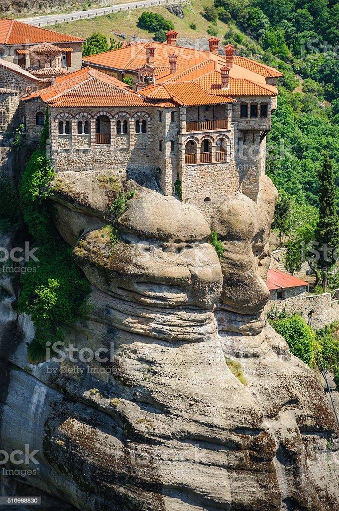 The holly monastery of Varlaam, Meteora, Greece stock photo