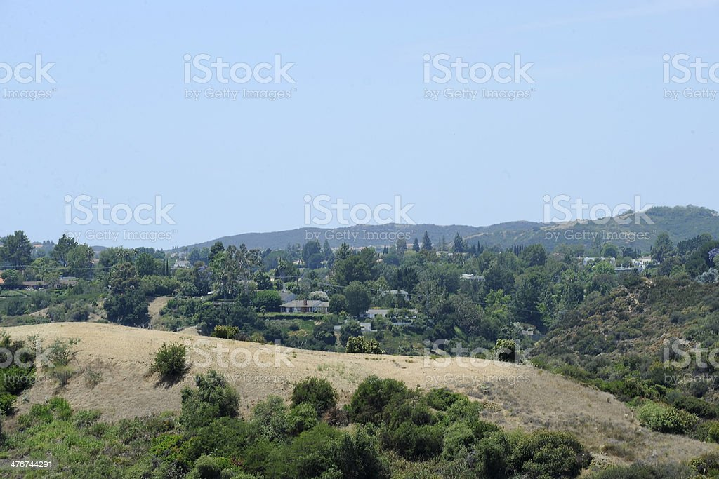 The Hollywood Hills stock photo