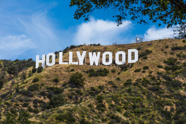 The Hollywood Sign Photo taken from the Hollywood hills, Los Angeles California on April 17, 2017 hollywood california stock pictures, royalty-free photos & images