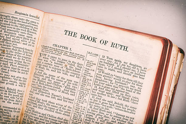 The Holy Bible. Book of Ruth stock photo