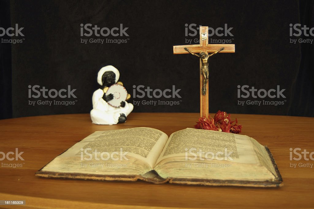 The holy book and a nubian stock photo