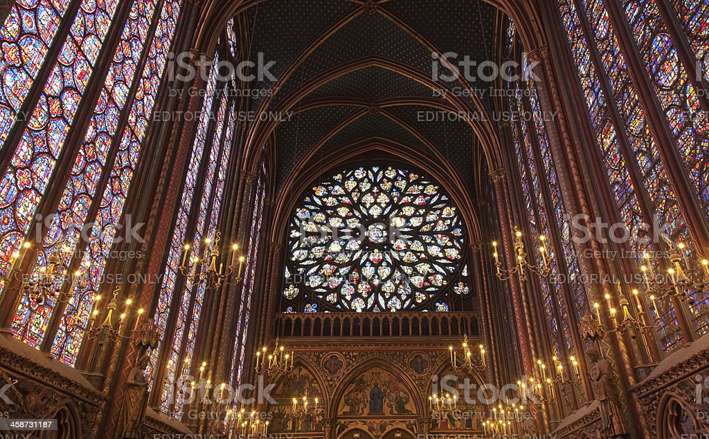 La Sainte Chapelle royalty-free stock photo