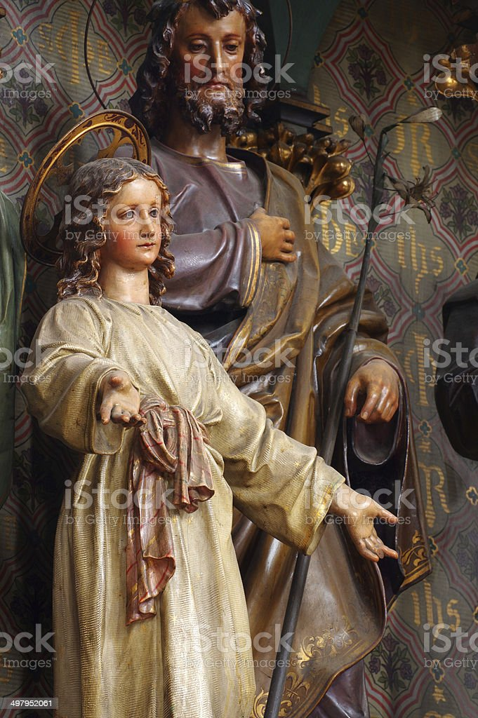The Holy Family 3 royalty-free stock photo