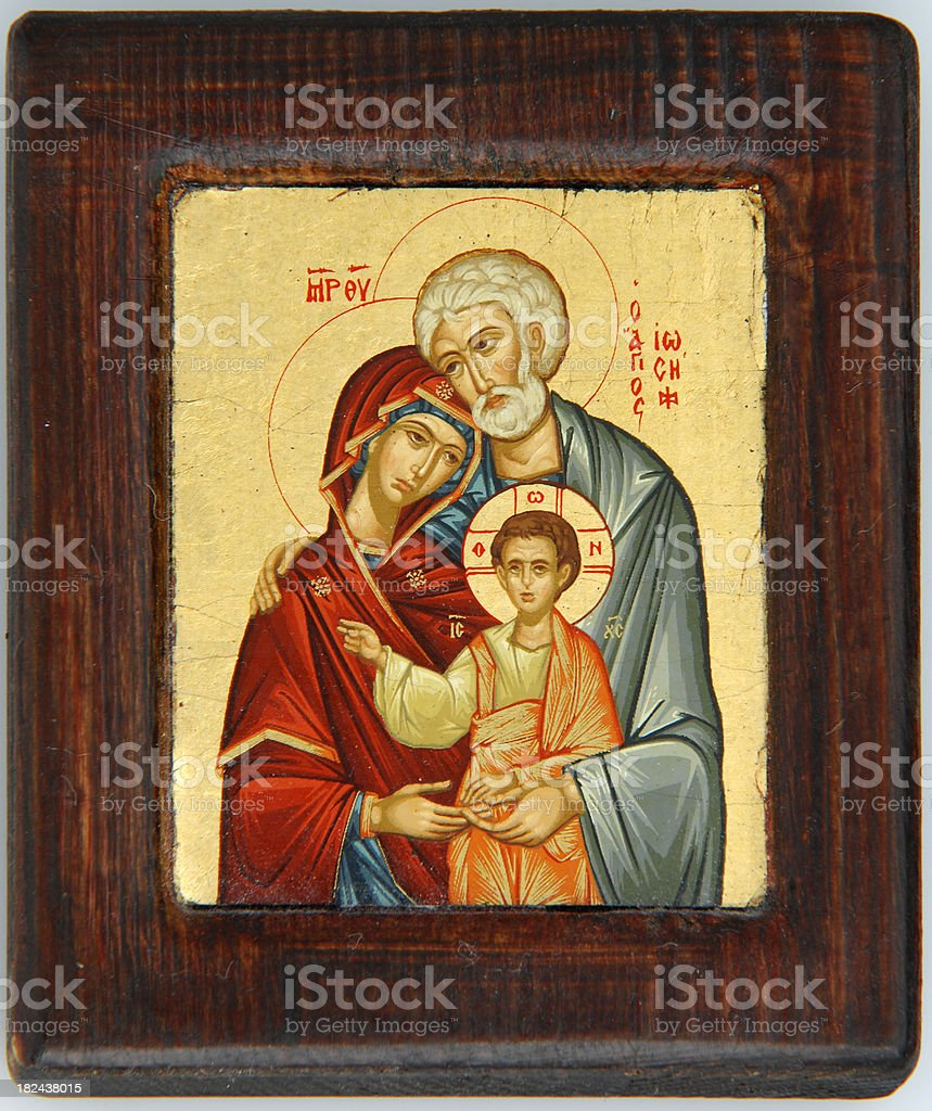 The Holy Family stock photo