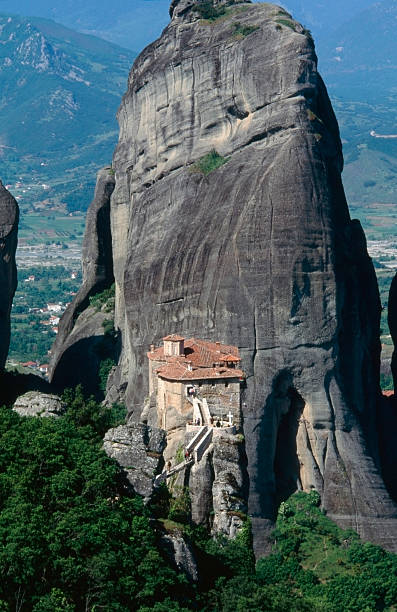 The Holy Monastery of Rousanou/St. Barbara stock photo