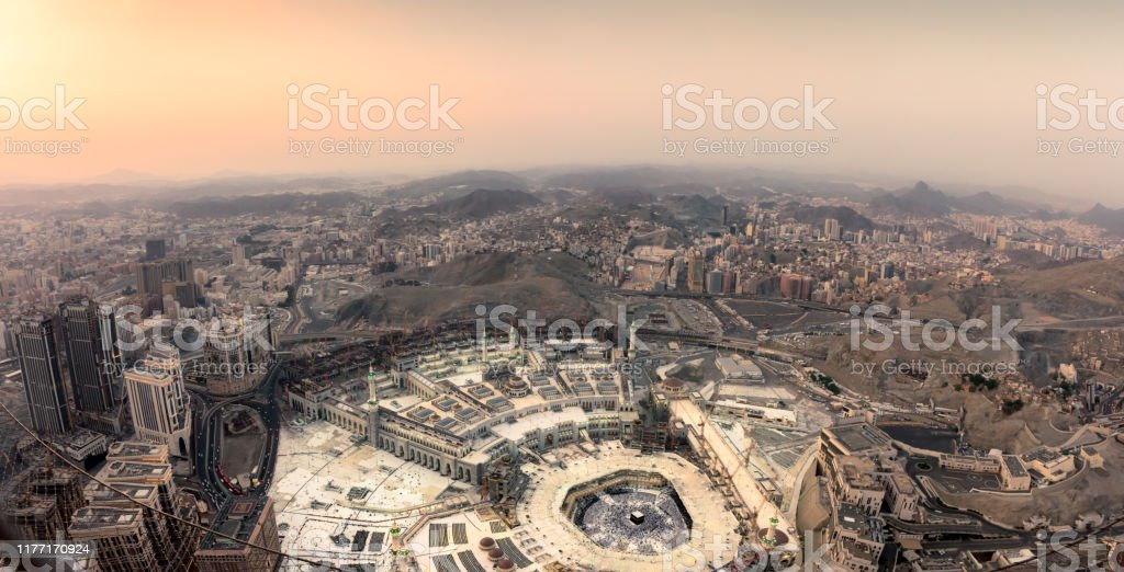 The Holy Mosque And Makkah City Stock Photo Download Image Now Istock