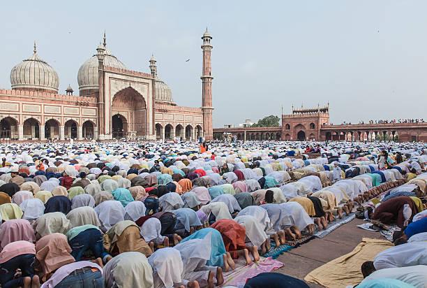The Holy Prayer stock photo
