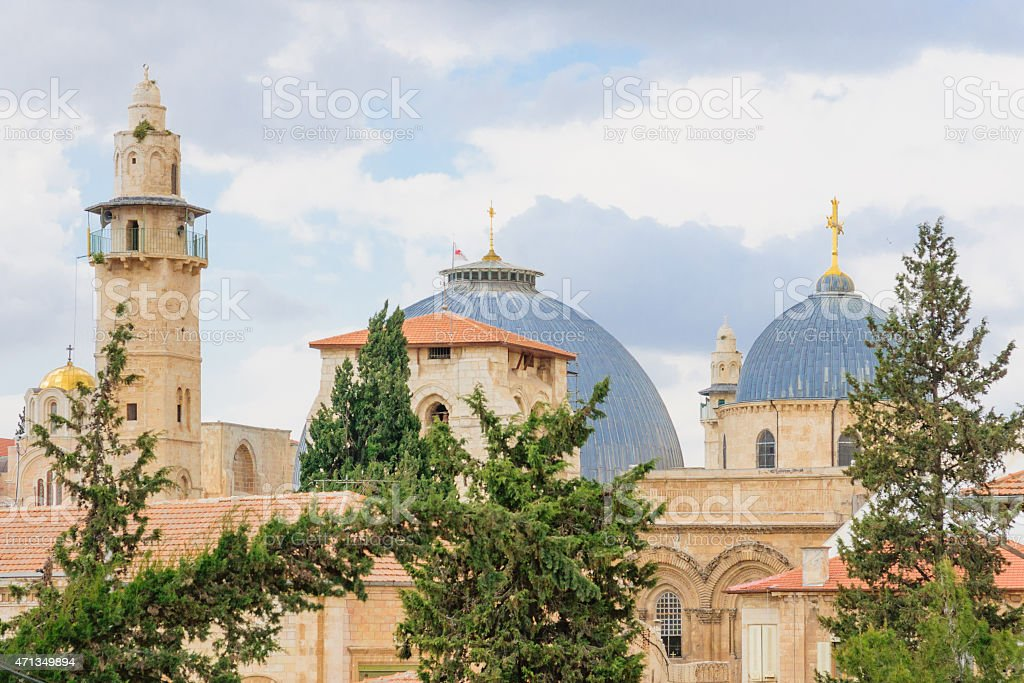 The Holy Sepulcher Church stock photo