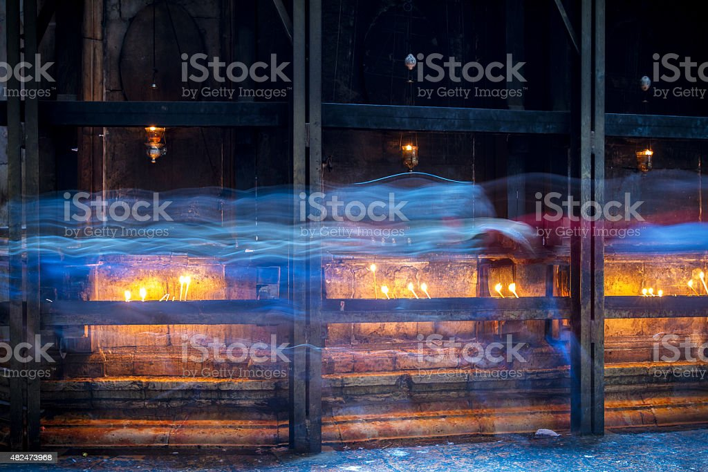 The Holy Sepulchre Church in Jerusalem . stock photo