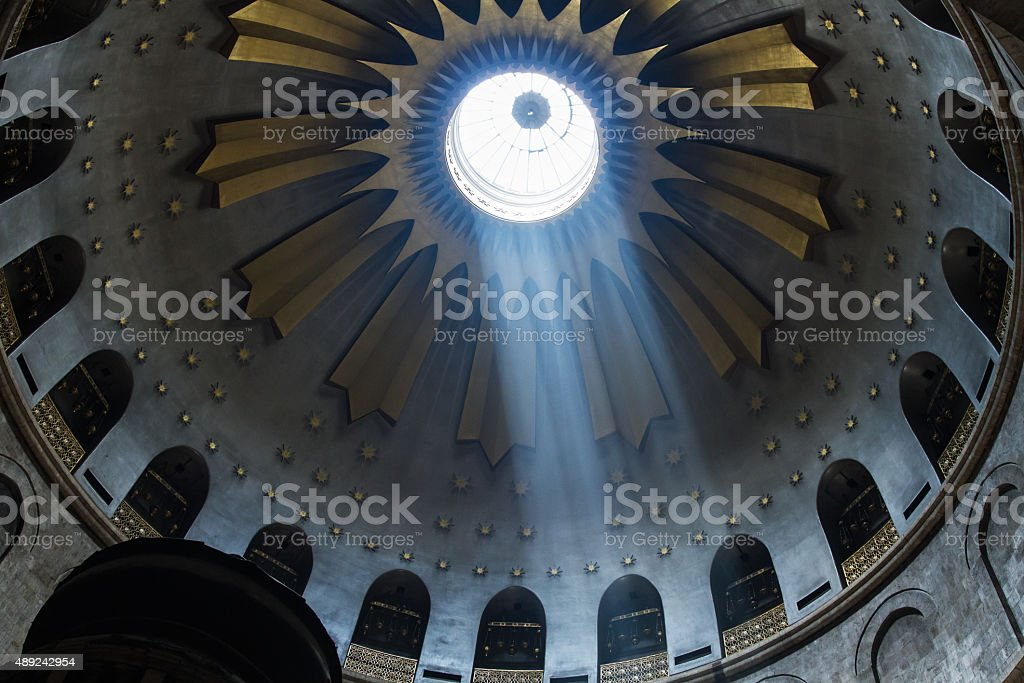 The Holy Sepulchre Church in Jerusalem stock photo