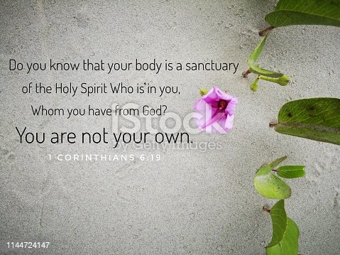 istock The Holy Spirit from the bible verse of the day, be encouraged in daily life design for Christianity. 1144724147