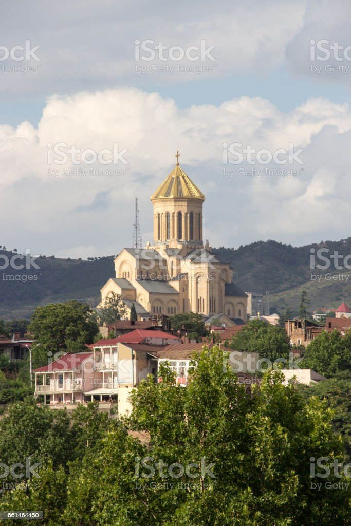 The Holy Trinity Cathedral of Tbilisi commonly known as Sameba stock photo