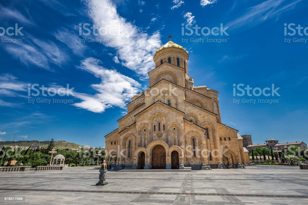 The holy trinity cathedral stock photo