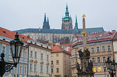 The Holy Column of Trinity in Mala Strana, Prague, Czech Republic.
