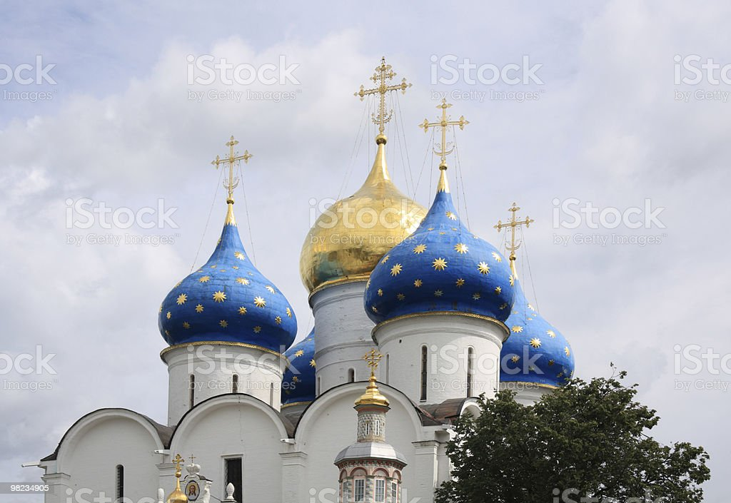 The Holy Trinity Saint Sergius Lavra royalty-free stock photo