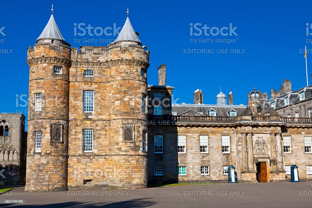 The Holyrood Palace, Edinburgh, United Kingdom. stock photo