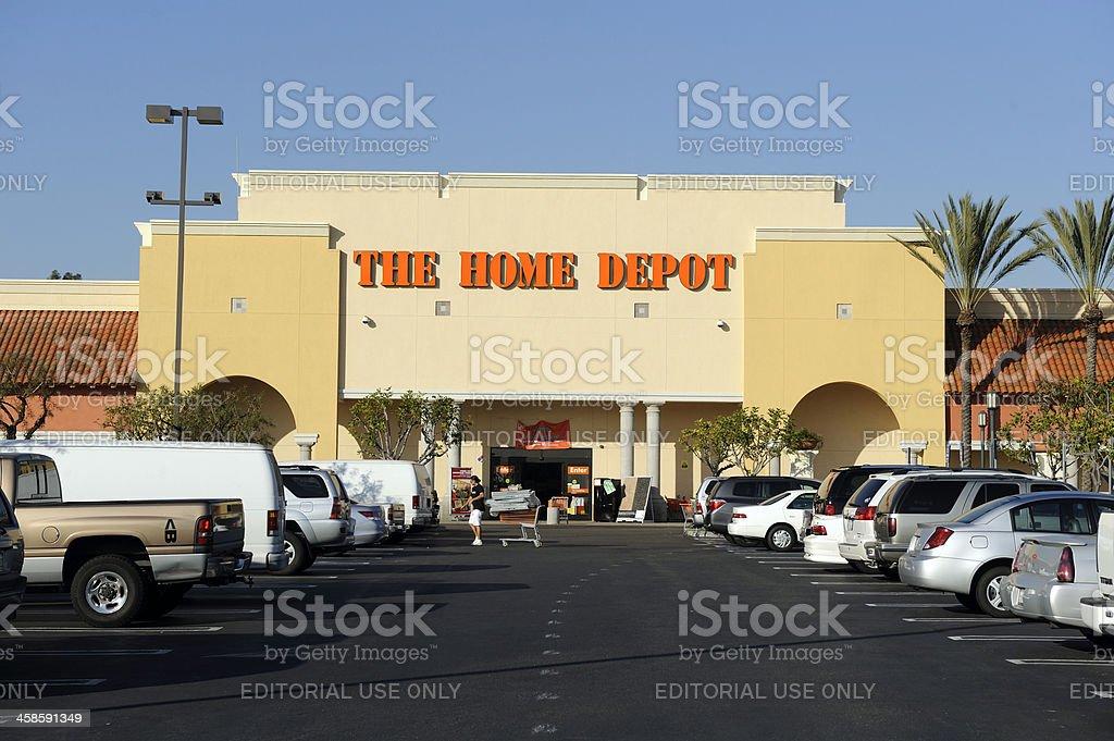 Das Home Depot Hom Verbesserung Geschäft Vorne Mit Schild Stockfoto