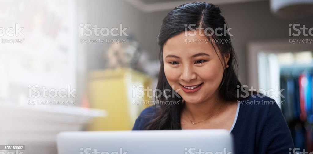 The home office is a productive place stock photo