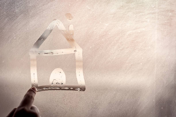 the home on the sweaty glass - condensation stock photos and pictures