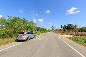 istock PATTAYA, THAILAND - APRIL 2, 2017 : The Honda HRV car on asphalt road  in summer at countryside of Pattaya,Thailand. 664119038