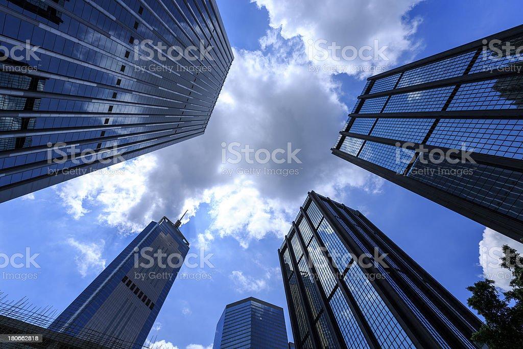The Hong Kong Corporate Buildings royalty-free stock photo
