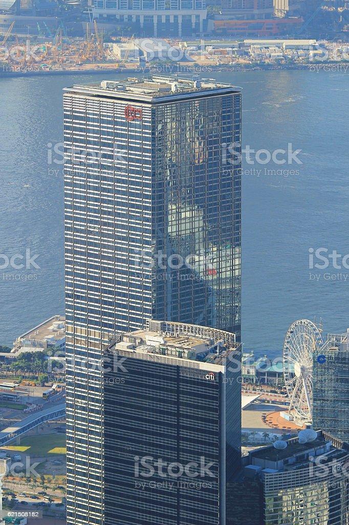 L'Hong Kong edifici aziendali foto stock royalty-free