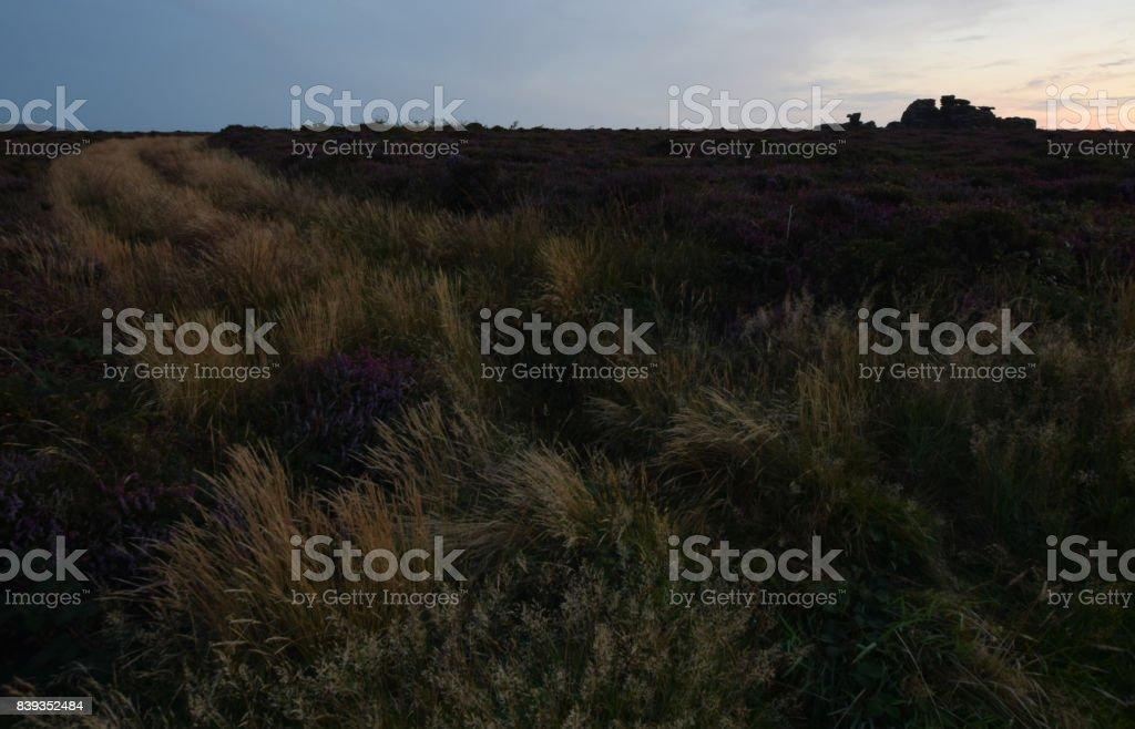 The Hooting Cairn Carn Kenidjack Penwith stock photo