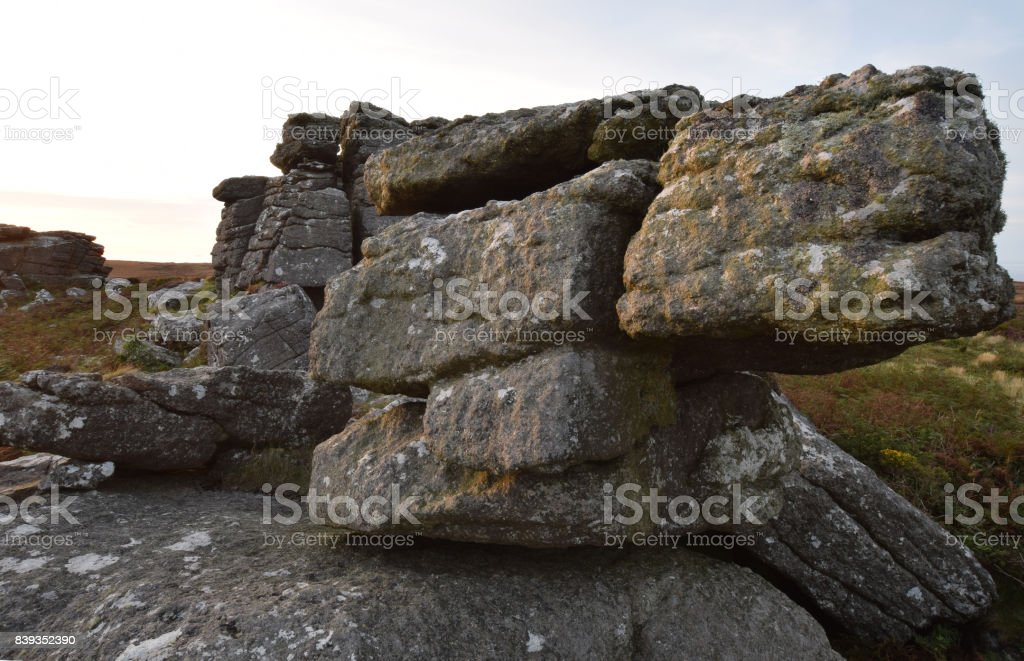 The Hooting Cairn Penwith Cornwall stock photo