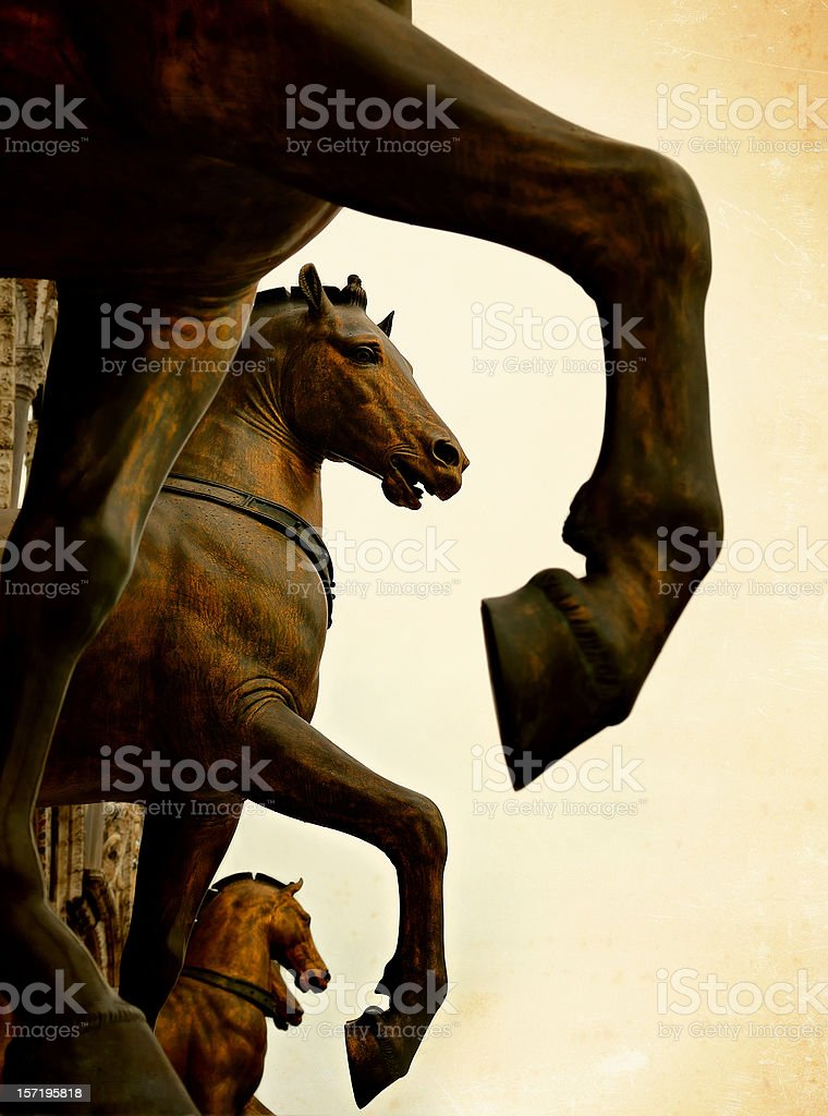 the horses of san marco stock photo