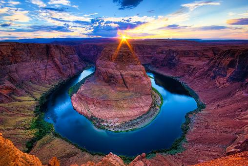 The Horseshoe Bend Canyon, Arizona scenics