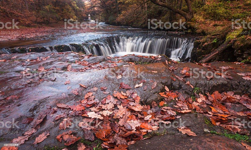 The horseshoe falls Sgwd y Bedol South Wales stock photo