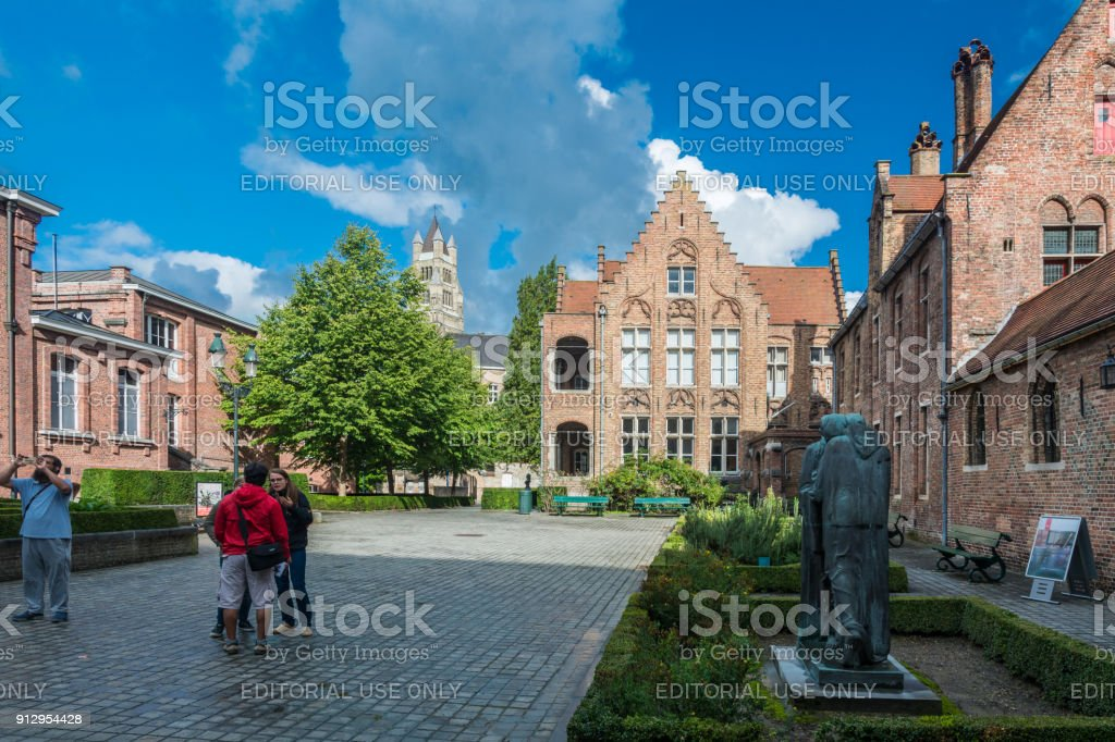The Hospital of St. John in Bruges stock photo
