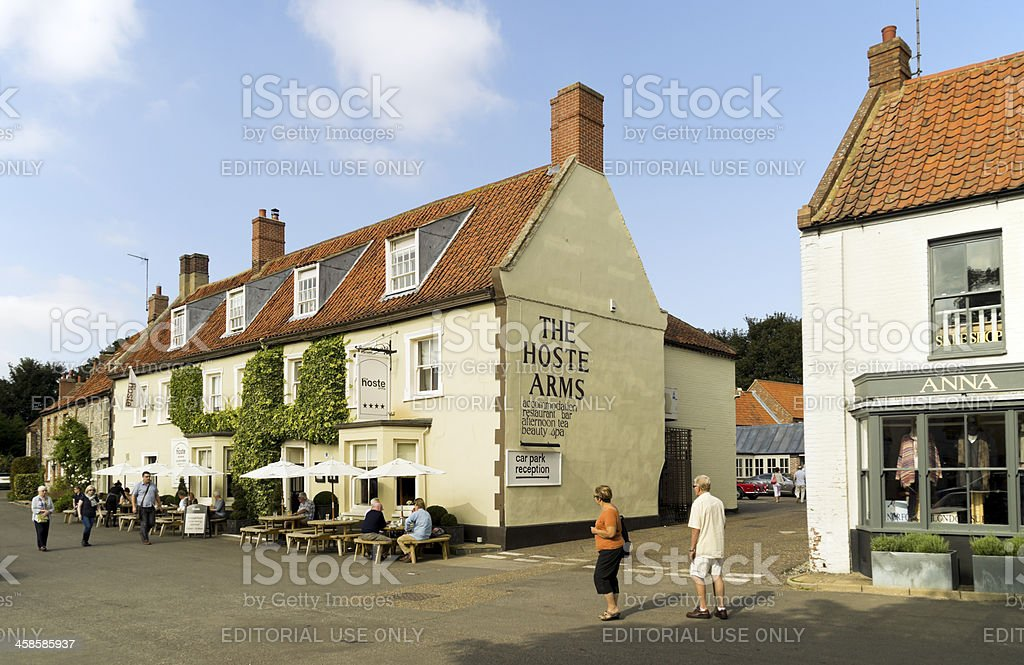 The Hoste Arms in Burnham Market royalty-free stock photo