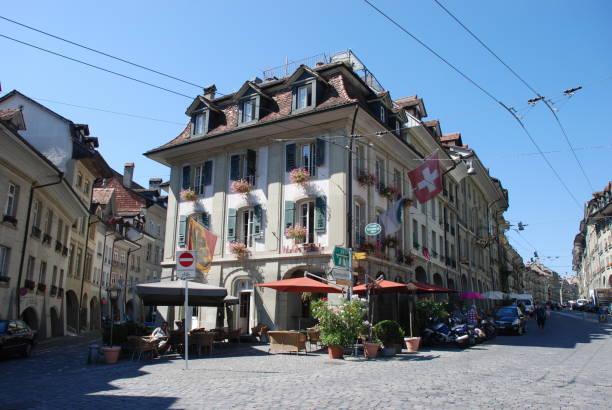 das hotel nydeck in bern, schweiz - hotel bern stock-fotos und bilder