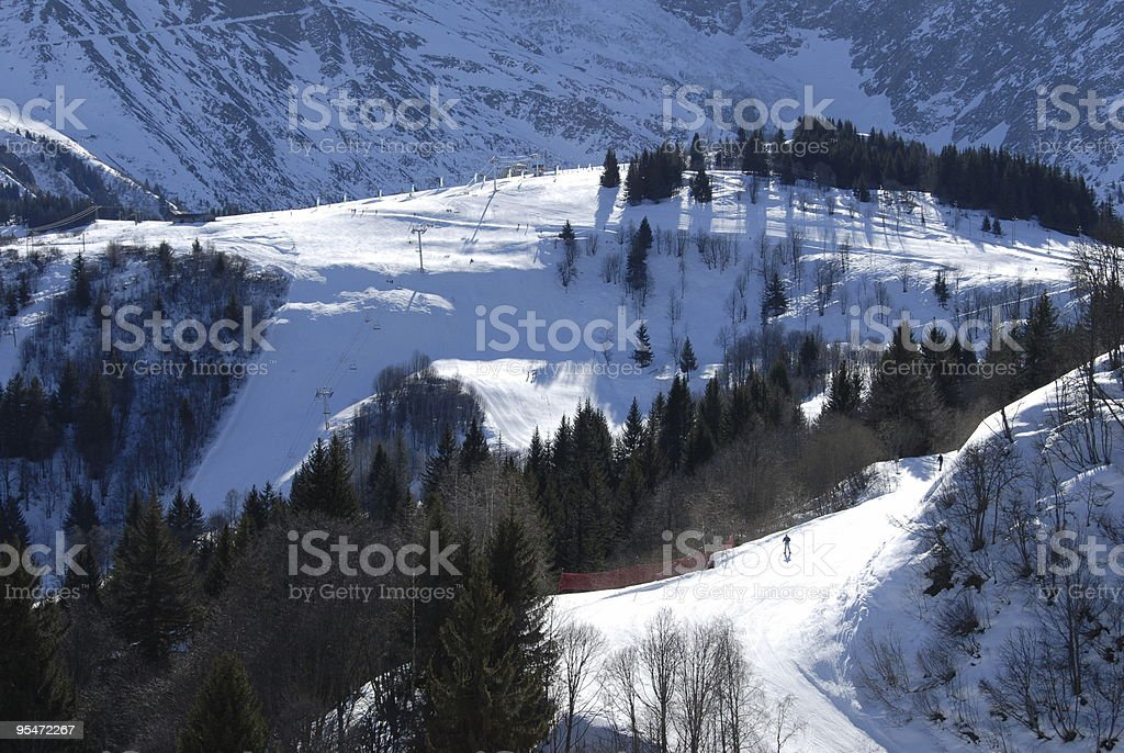 Les Houches' Slopes royalty-free stock photo