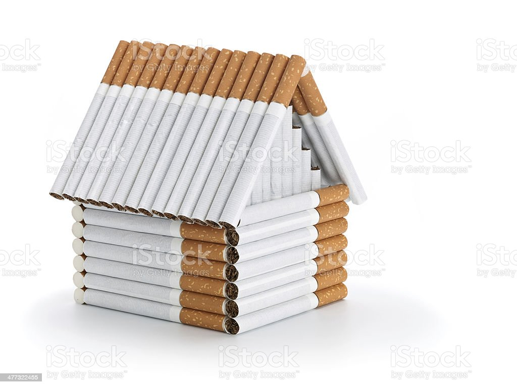 The house from cigarettes royalty-free stock photo