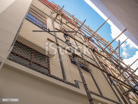 istock The house installs a metal mesh to protect th 855729560