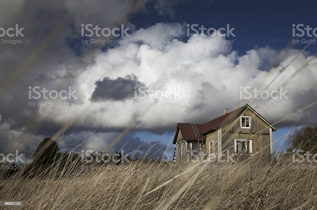 The House of Autumnal Wind royalty-free stock photo