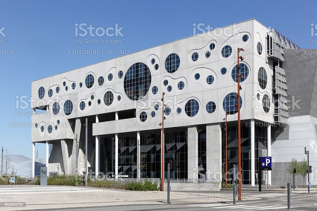 The House of Music in Aalborg, Denmark stock photo