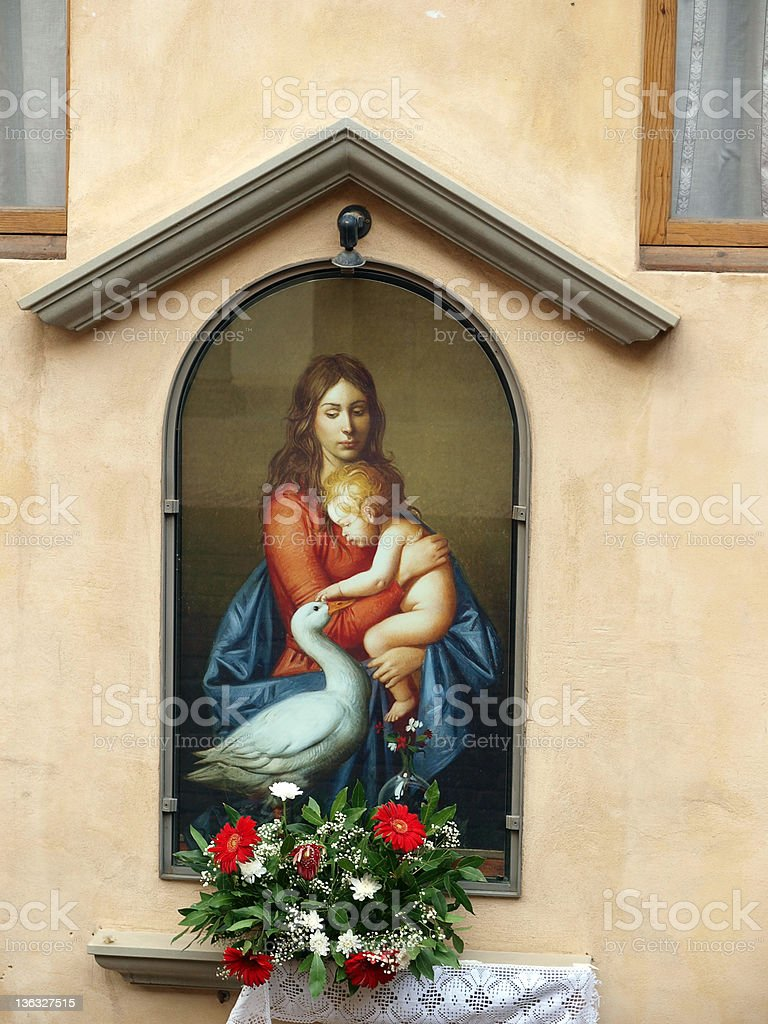 The house of Saint Catherine in Siena stock photo