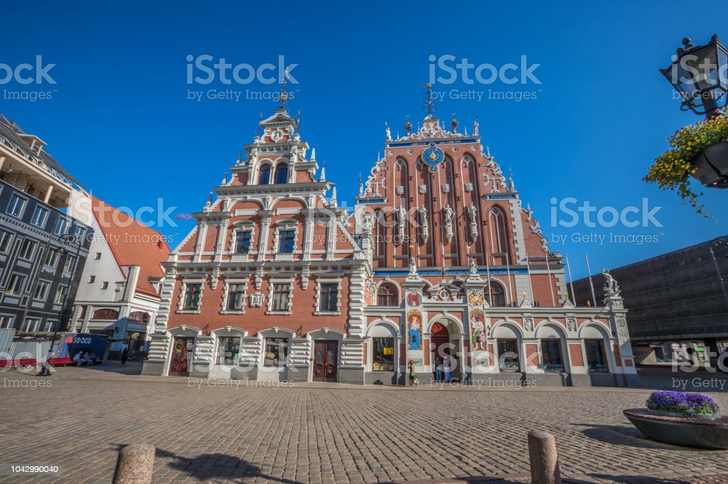 The House of the Blackheads in Riga stock photo