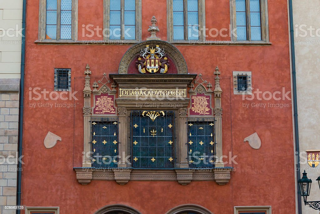 The House of the Furrier Mikes, Prague, Czech Republic stock photo