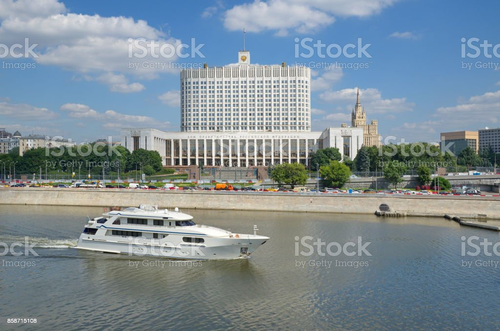 The house of the government of the Russian Federation in Moscow, Russia stock photo