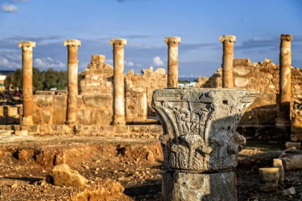 Das Haus des Theseus, Ruinen Römervilla in Kato Paphos Archaeological Park, Paphos, Zypern – Foto
