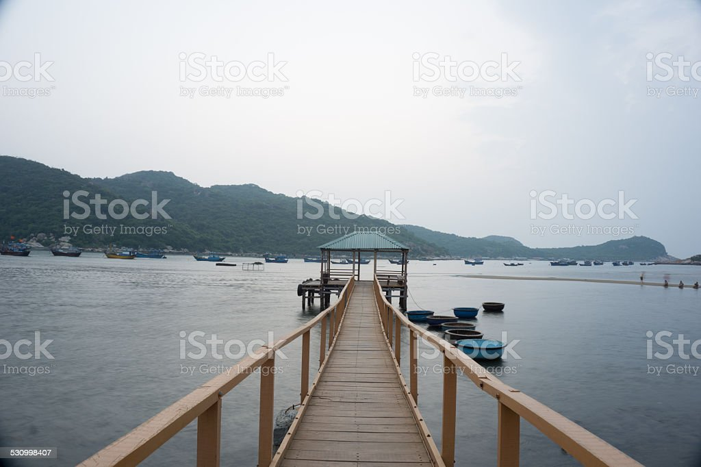 the house on a bay of vietnamese stock photo