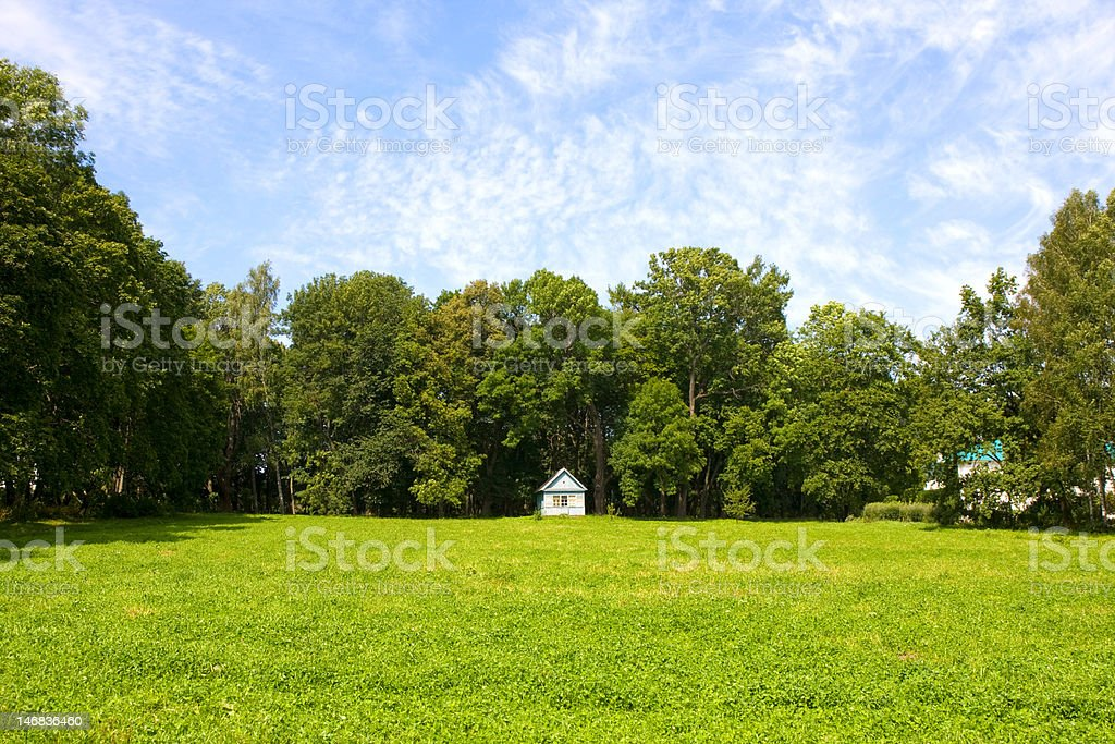The house on a glade royalty-free stock photo