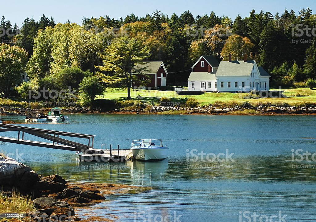 The House on Linekin Bay stock photo