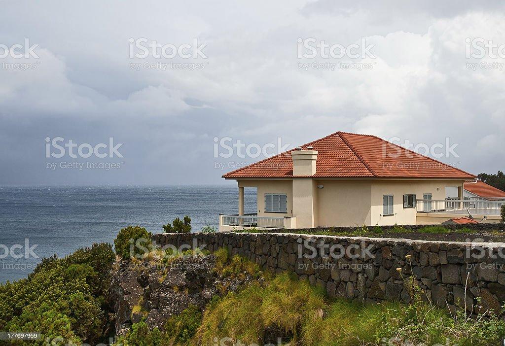 The house on seacoast royalty-free stock photo